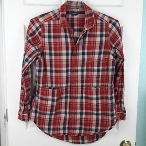 Roots Canada Plaid Flannel Shirt Size Medium